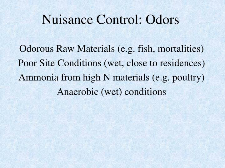 Nuisance Control: Odors
