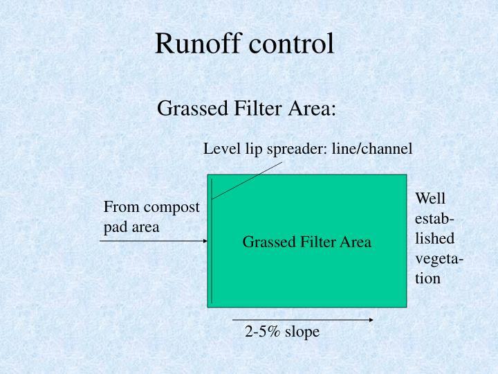 Runoff control