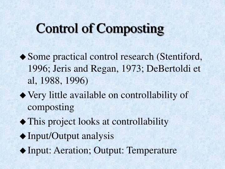 Control of Composting