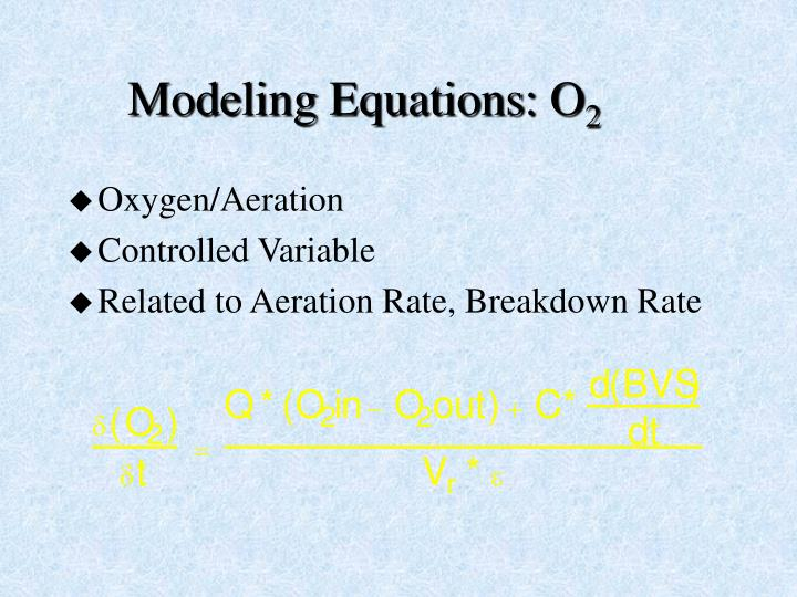 Modeling Equations: O