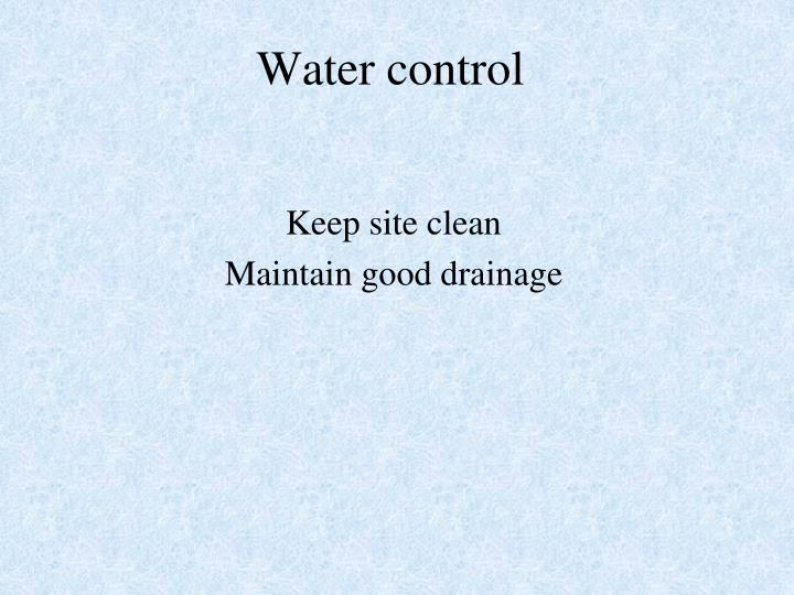 Water control