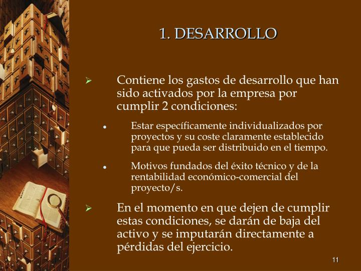 1. DESARROLLO