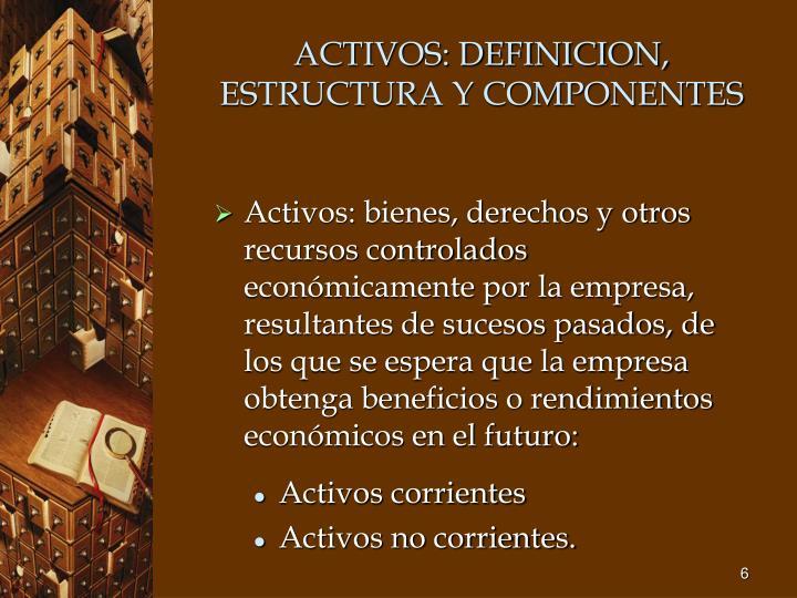 ACTIVOS: DEFINICION, ESTRUCTURA Y COMPONENTES