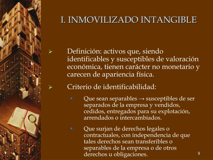 I. INMOVILIZADO INTANGIBLE