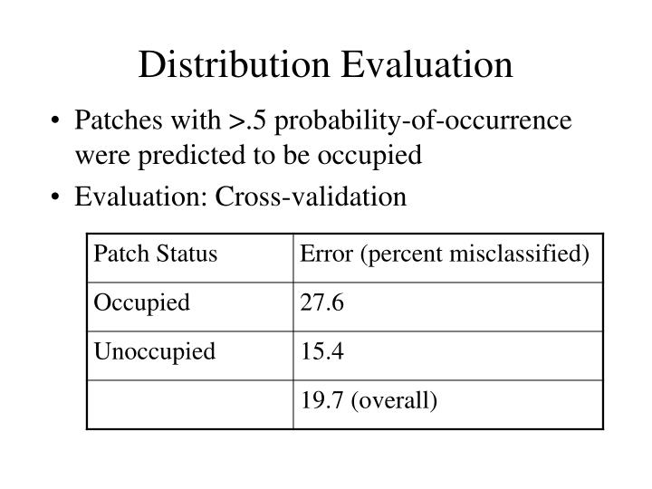 Distribution Evaluation