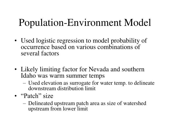 Population-Environment Model
