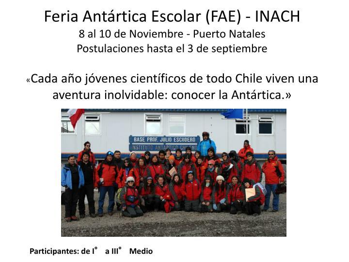 Feria Antártica Escolar (FAE) - INACH