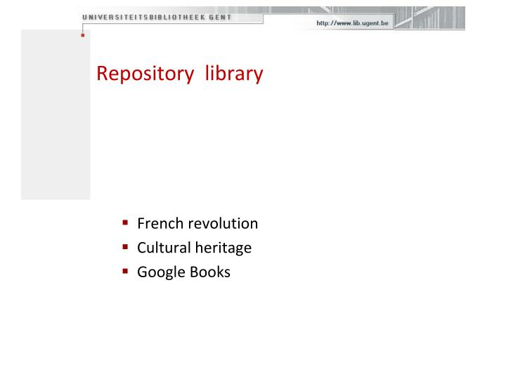 Repository  library