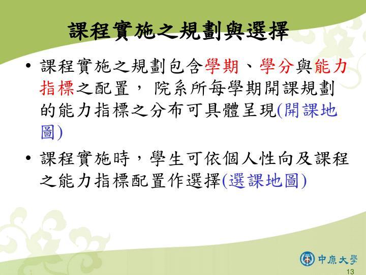 課程實施之規劃與選擇