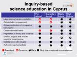inquiry based science education in cyprus