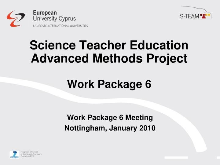 Science Teacher Education Advanced Methods Project