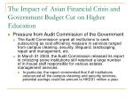 the impact of asian financial crisis and government budget cut on higher education2