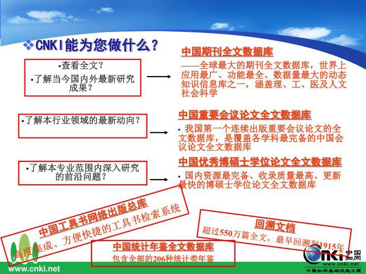 中国期刊全文数据库
