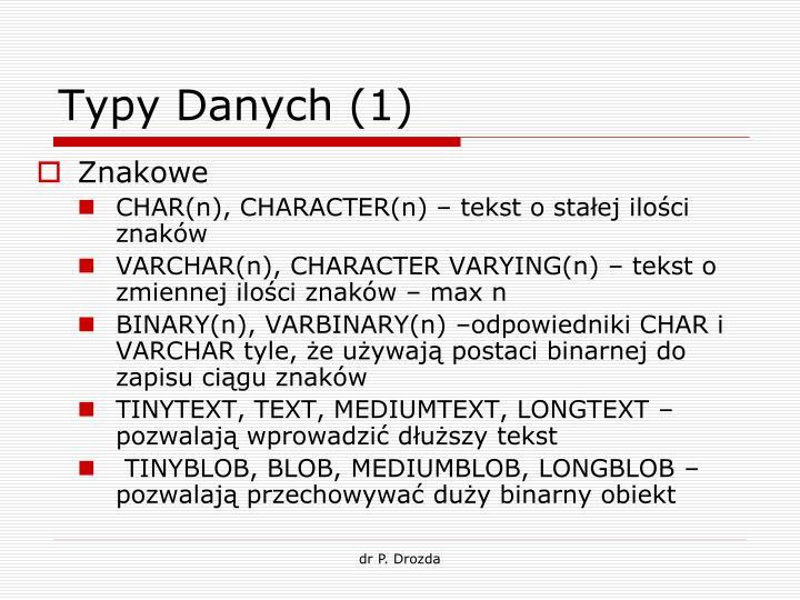Typy Danych (1)