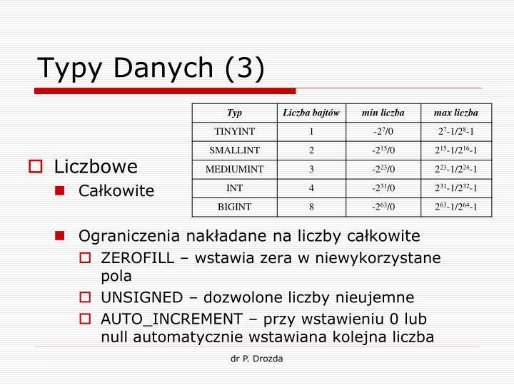 Typy Danych (3)