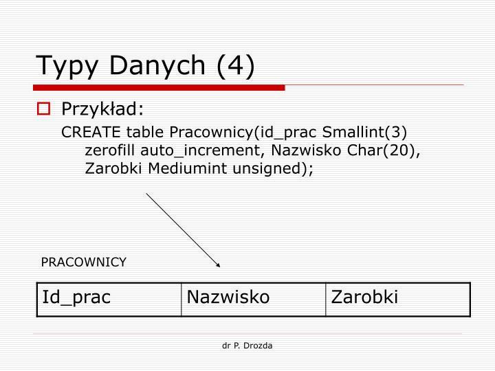 Typy Danych (4)
