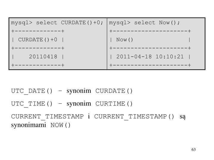 UTC_DATE() –