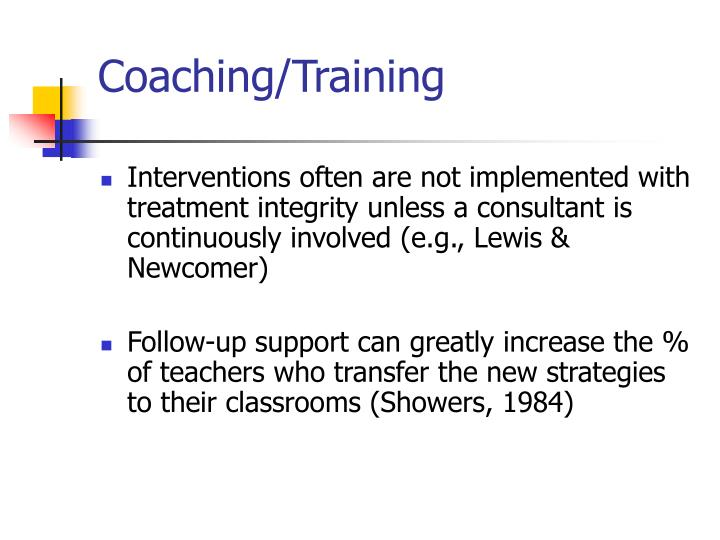 Coaching/Training
