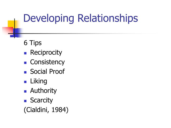 Developing Relationships
