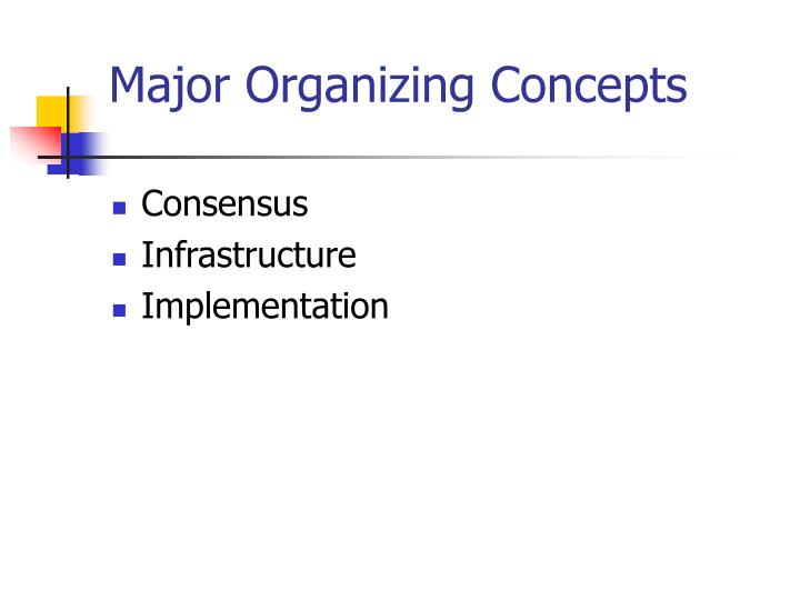 Major Organizing Concepts