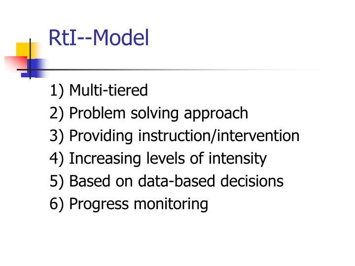 RtI--Model