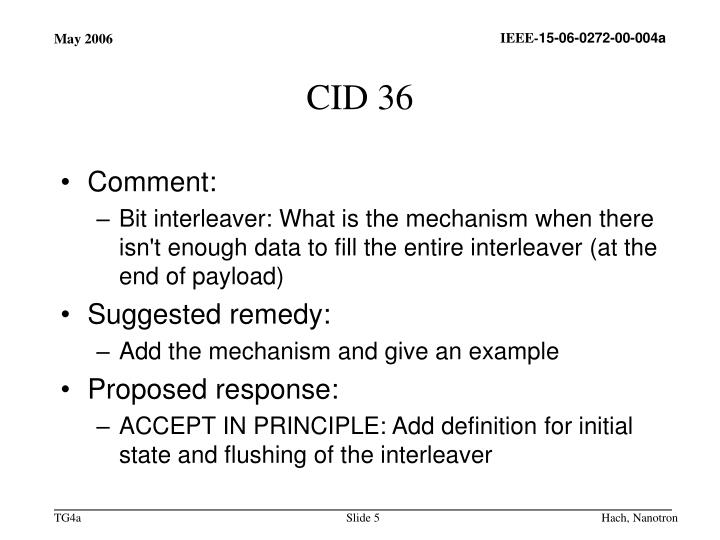 CID 36