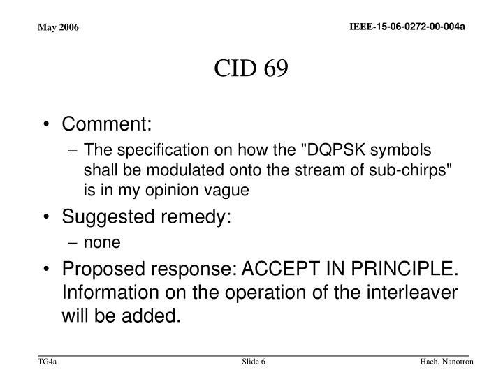 CID 69
