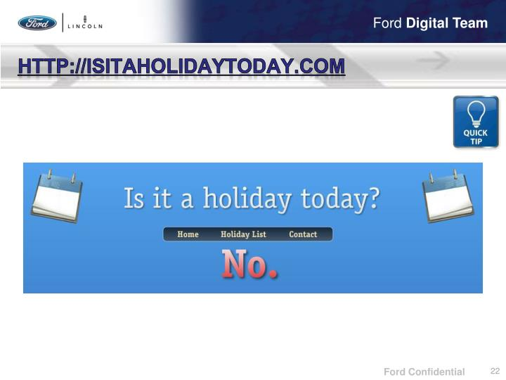 http://isitaholidaytoday.com