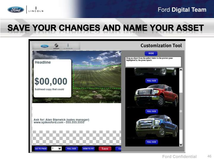 Save your changes and name your asset