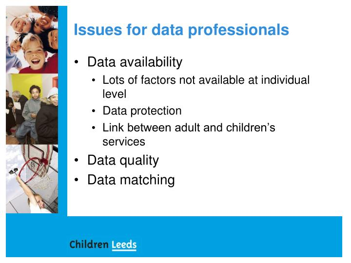 Issues for data professionals
