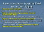 recommendation from the field for victims rights3