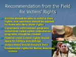 recommendation from the field for victims rights6