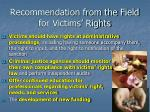 recommendation from the field for victims rights7