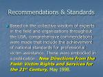recommendations standards