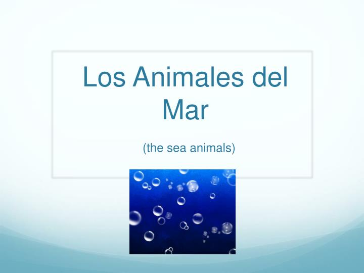 los animales del mar the sea animals