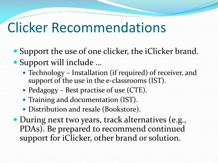 Clicker recommendations
