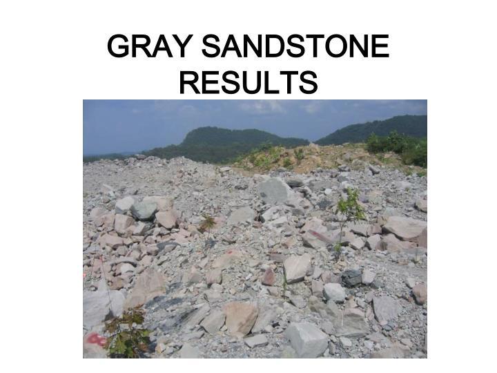 GRAY SANDSTONE RESULTS