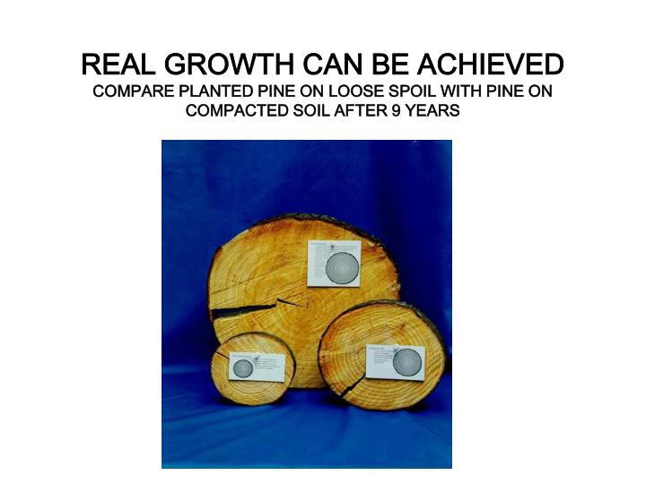 REAL GROWTH CAN BE ACHIEVED