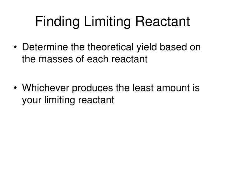 Finding Limiting Reactant
