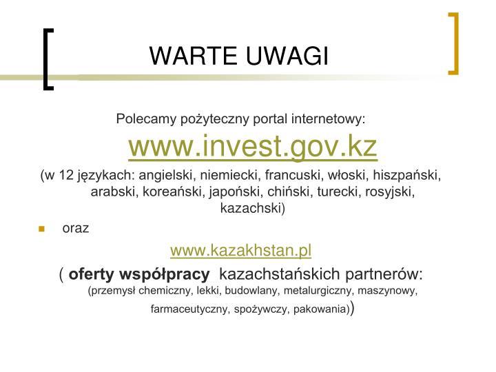 WARTE UWAGI