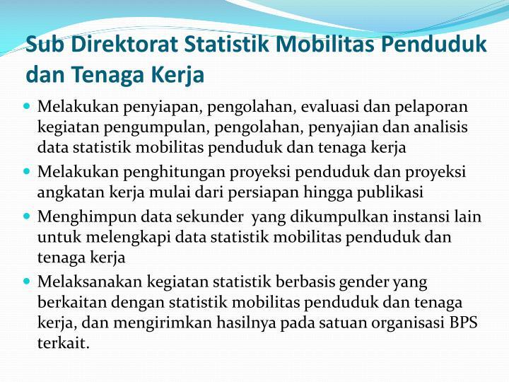 Sub Direktorat Statistik Mobilitas Penduduk dan Tenaga Kerja