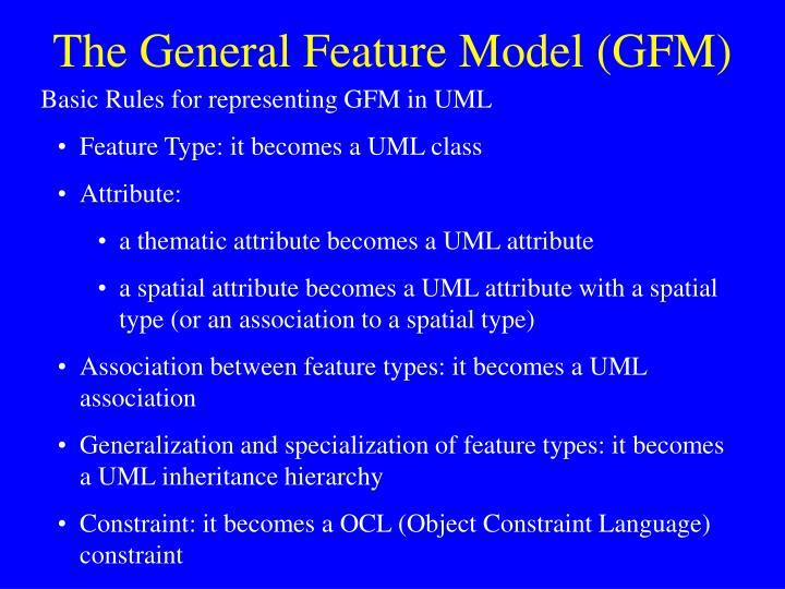 The General Feature Model (GFM)