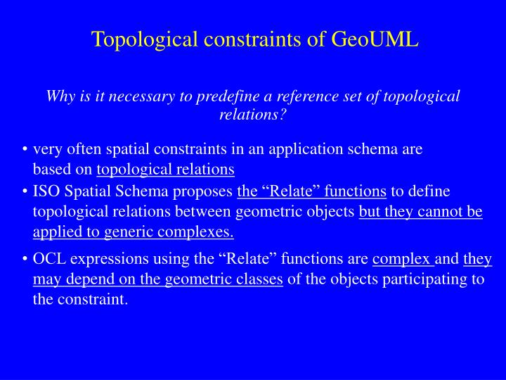 Topological constraints of GeoUML