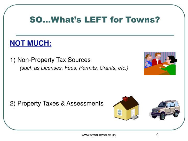 SO…What's LEFT for Towns?