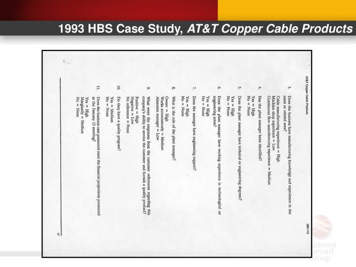 1993 HBS Case Study,