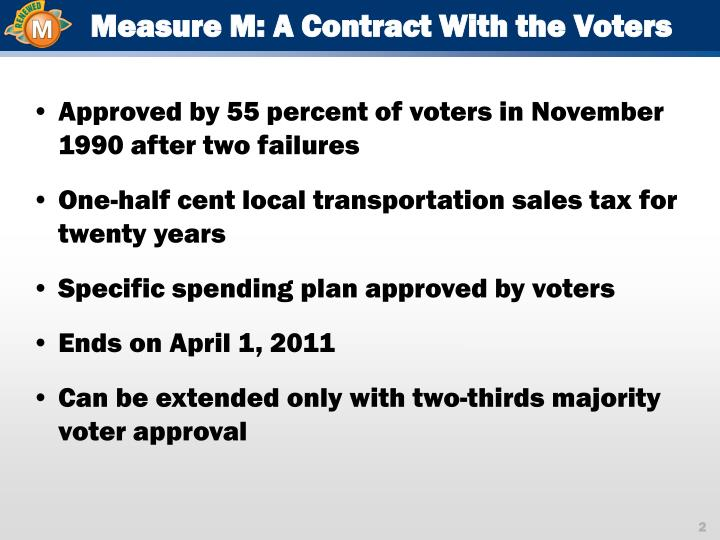 Measure M: A Contract With the Voters