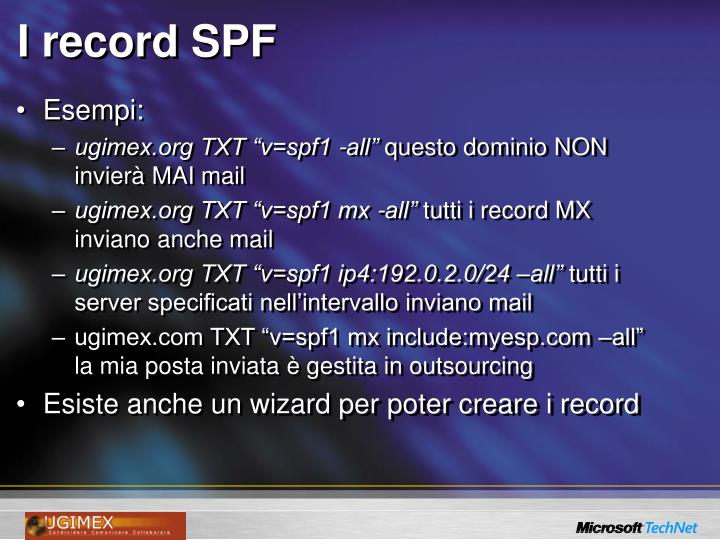 I record SPF