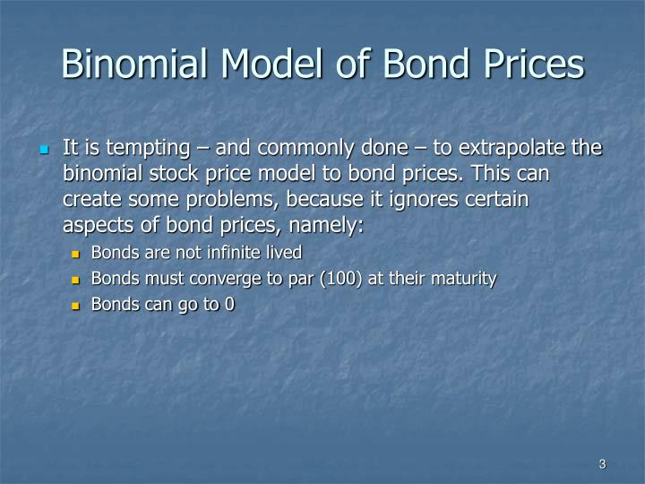 Binomial model of bond prices
