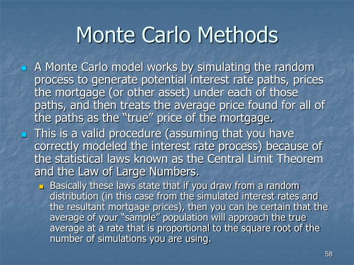 Monte Carlo Methods