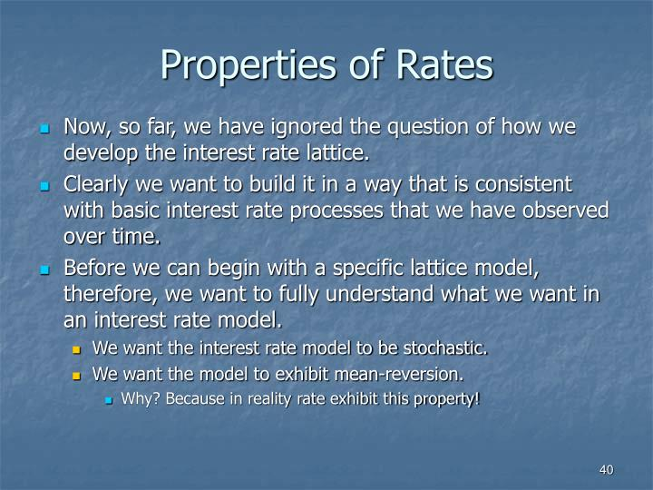 Properties of Rates